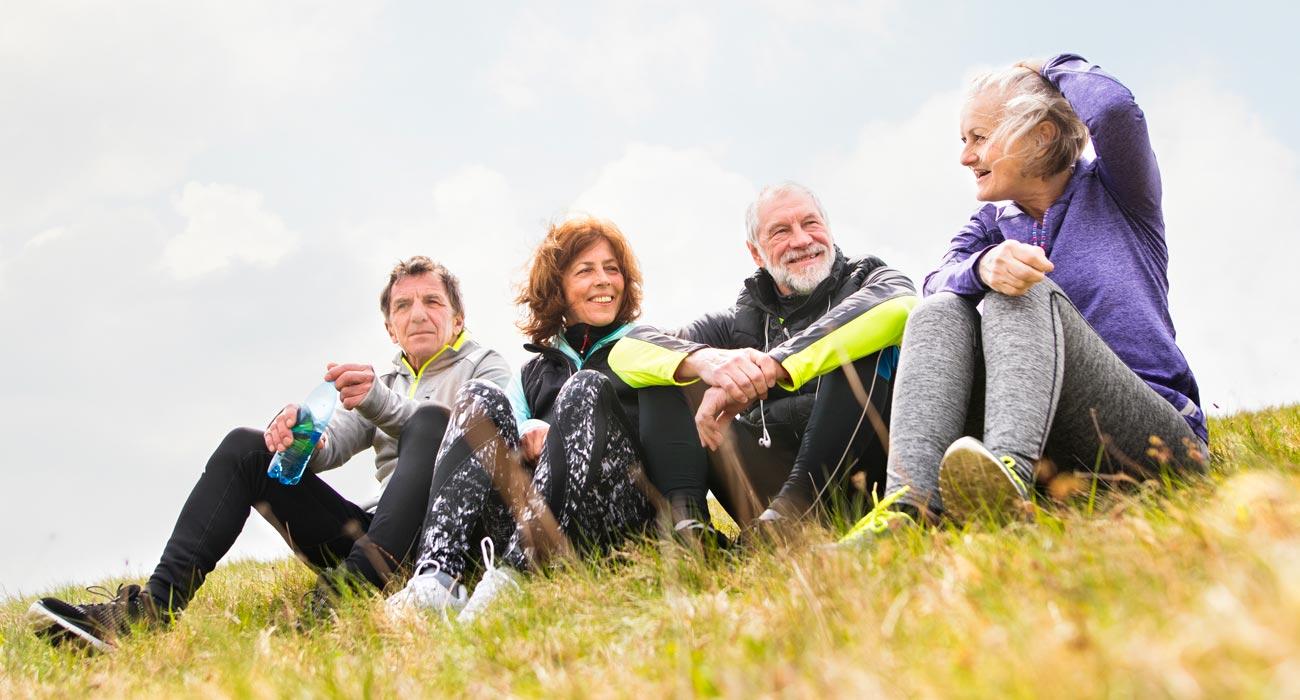 Group of people on hillside