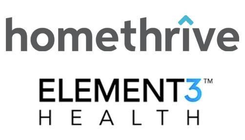 HomeThrive and Element3 Health Logos